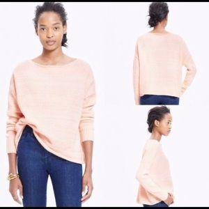 Madewell Womens Sweater XS Peach White L/S Cozy